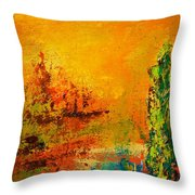 Cypress Gold Throw Pillow