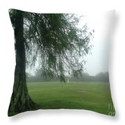 Cypress In The Mist Throw Pillow