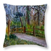 Cypress Trail At Loxahatchee Throw Pillow
