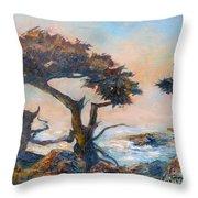 Cypress Tree Coast Throw Pillow