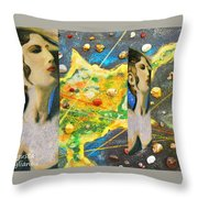 Cyprus And Aphrodite Throw Pillow