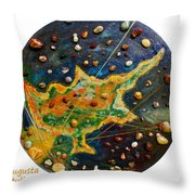 Cyprus Planets Throw Pillow