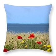Cyprus Poppies Throw Pillow