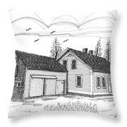 Cyrus Eaton House Throw Pillow by Richard Wambach