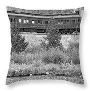 Cyrus K  Holliday Private Rail Car Bw Throw Pillow