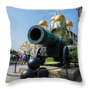 Czar Cannon Of Moscow Kremlin - Featured 3 Throw Pillow