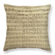 Czech Republic Prague Symphony No. 38 In D Major Called Prague Symphony Throw Pillow