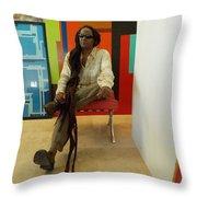D Attente Sur La Peinture A Secher Throw Pillow