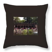 The Arches And The Fountain Throw Pillow
