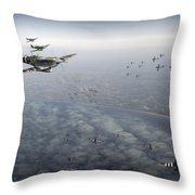 D-day Operation Mallard Throw Pillow