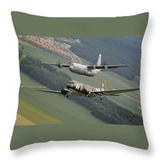 D Day Past And Present Throw Pillow