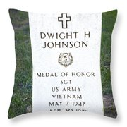 D. H. Johnson - Medal Of Honor Throw Pillow