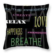 D I Y Anxiety Therapy Throw Pillow