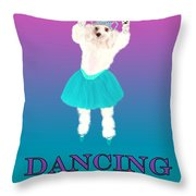 D Is For Dancing Dog Throw Pillow