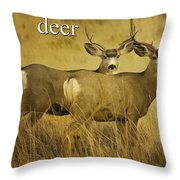 D Is For Deer Throw Pillow