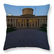 D13l83 Ohio Statehouse Photo Throw Pillow