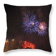 D21l163 Red White And Boom Photo Throw Pillow