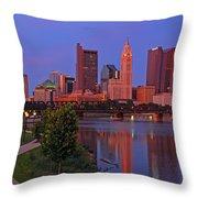 D2l38 Columbus Ohio Skyline Photo Throw Pillow