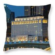 D2l496 Columbus Ohio Night Skyline  Throw Pillow