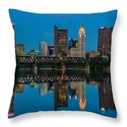 D2l64 Columbus Ohio Skyline Throw Pillow