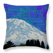 Da Mountain Cubed 1 Throw Pillow