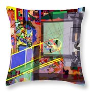 Daas 18 O Throw Pillow