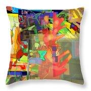 Daas 1l Throw Pillow by David Baruch Wolk