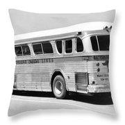 Dachshound Charter Bus Line Throw Pillow