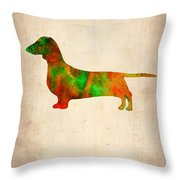 Dachshund Poster 2 Throw Pillow by Naxart Studio