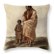 Dacota Woman And Assiniboin Girl Throw Pillow