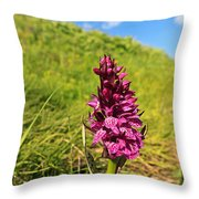 Dactylorhiza Orchid Throw Pillow