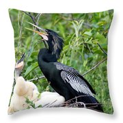 Dad And Chick Throw Pillow