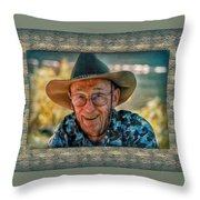 Dad In Cowboy Mood Throw Pillow