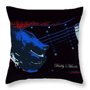 Daddy's Hands Throw Pillow