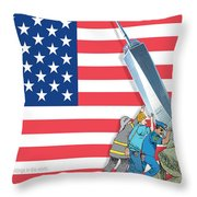 Daddys Home 9/11 Tribute Throw Pillow