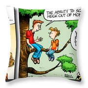 Daddy's Home Dad And Son Bond Scaring Mom Throw Pillow