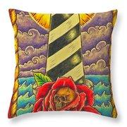 Dad's Lighthouse Throw Pillow