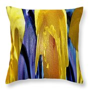 Daffodil Abstract Throw Pillow