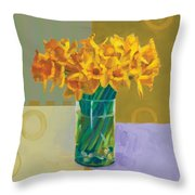 Daffodil Bronze Throw Pillow