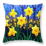 Daffodil Dance Throw Pillow