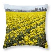 Daffodil Field Throw Pillow