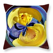 Daffodil Orb Throw Pillow