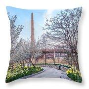 Daffodil Path Throw Pillow