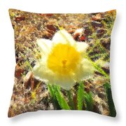 Daffodil Under Water Throw Pillow