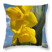 Daffodills In Spring Throw Pillow