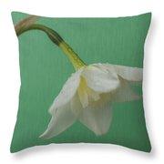 Daffodilon Green 2 Throw Pillow