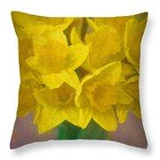 Daffodils 10 Throw Pillow