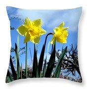 Daffodils 2 Throw Pillow