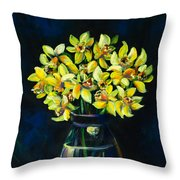 Daffodils And Fruit Throw Pillow
