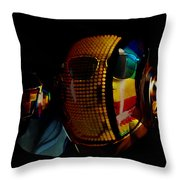 Daft Punk Pharrell Williams  Throw Pillow by Marvin Blaine